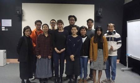 Chuyên gia Trường INSAS giảng dạy cho sinh viên lớp Đạo diễn Điện ảnh chất lượng cao
